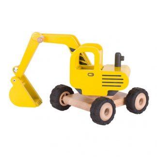 gelber Holzbagger