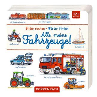 Pappbilderbuch mit Fahrzeugen