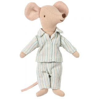Maileg Maus aus Baumwolle im blauen Pyjama