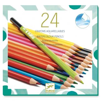 24 Aquarell-/Buntstifte