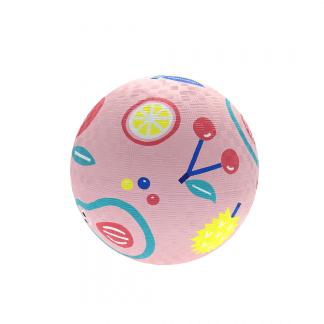 Ball rosa mit Früchten gross Naturkautschuk