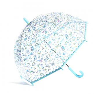 transparenter Kinderregenschirm mit Einhörnern
