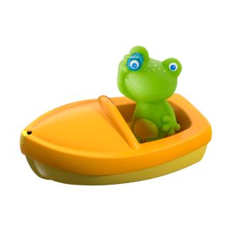 gelbes Bott mit Frosch Badespielzeug