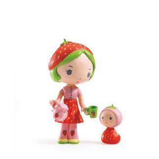 Tinyly Spielfigur mit Erdbeere und Teekanne