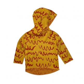 Hapilu Hoodie gelb/orange Kritzel 86-92