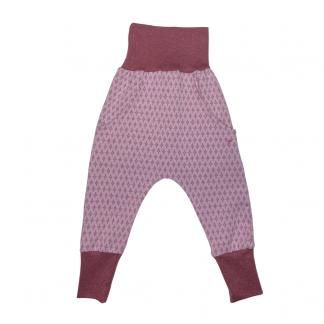 Hapilu Hose mit Seitentaschen beere/rosa Waben 80-100
