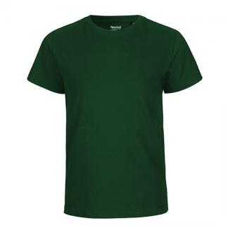 dunkelgrünes Kinder T-Shirt aus Biobaumwolle