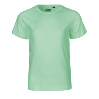 mintfarbenes Kinder T-Shirt aus Biobaumwolle