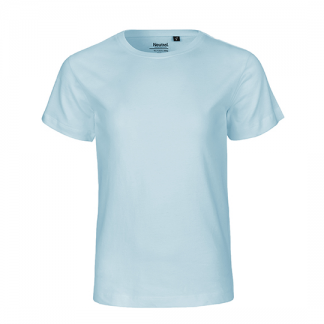 hellblaues Kinder T-Shirt aus Biobaumwolle