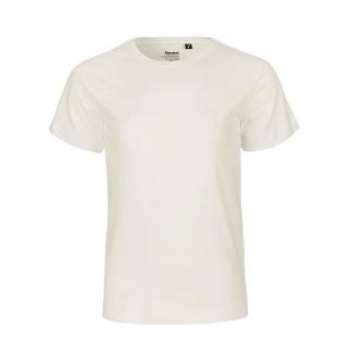 naturfarbenes Kinder T-Shirt aus Biobaumwolle