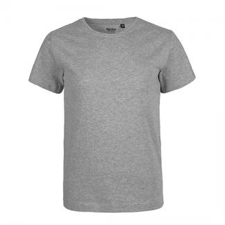 graues Kinder T-Shirt aus Biobaumwolle