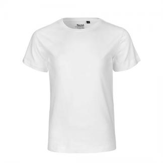 weißes Kinder T-Shirt aus Biobaumwolle