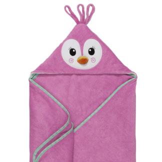 Baby Kapuzenbadetuch Penny der Pinguin Zoocchini